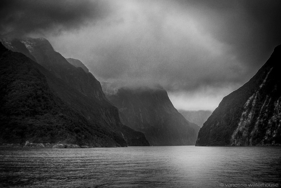 Milford Sound, New Zealand. Click for larger version. ©vanessa waterhouse