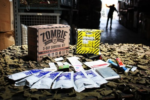 designersof:  Zombie Defense Solutions: 3-Day Survival Kit packaging & logo design. http://dhri.tumblr.com/post/33552127187/zombie-defense-solutions-3-day-survival-kit