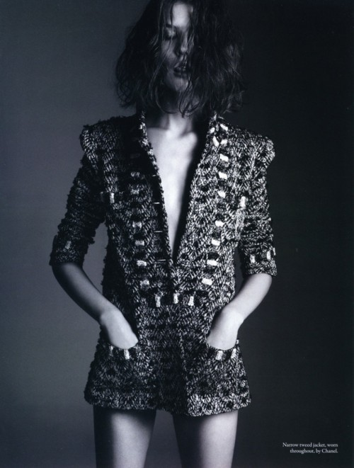 """This jacket was in the beginning something designed for men.""— Karl Lagerfeld Sasha Baldina"
