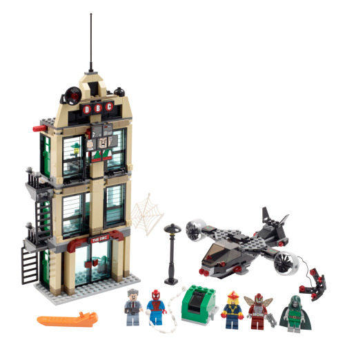 NEW MARVEL x LEGO set for 2012… Ultimate Spider-Man set featuring showdown with the Beetle at Daily Bugle Communications.