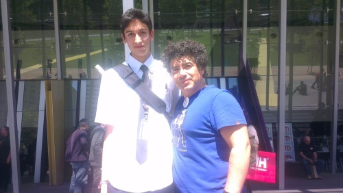 Got a photo with Miltos Yerolemou (Syrio Forel from Game of Thrones) today at Armageddon Expo.