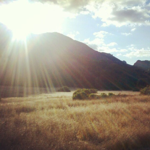 Gorgeous view of Malibu Creek State Park.