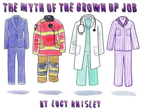"""The Myth of the Grown-up Job"" by Lucy Knisley This is such a wonderful article for anyone perusing a career path in the creative arts, while it talks more specifically comic art, it can be applied to a lot of artistic paths I believe. give it a read!"
