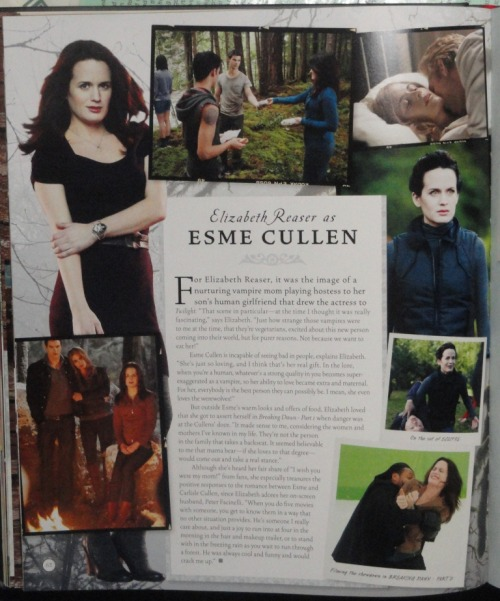 I love this so much! 'Elizabeth Reaser (@reasereaser) as Esme Cullen' spread in the new 'The Twilight Saga: The Complete Film Archive.' It includes two new pictures!
