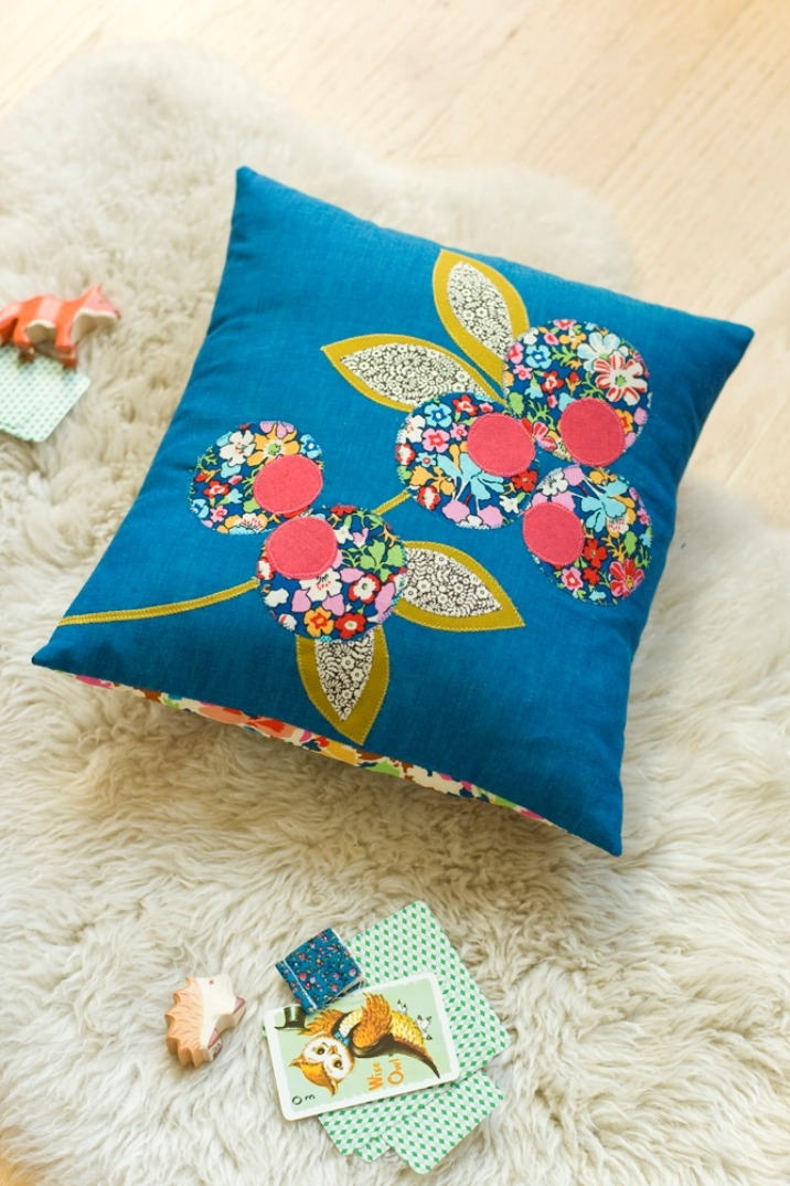 scissorsandthread:  Anna Joyce Cushion | Liberty Of London Liberty of London creates the most beautiufl chintzy floral fabrics and I was very excited to see that they have a new section of their blog dedicated to crafts. It's a little sparse at the moment but this first project is fun and is a great lesson in applique. As Liberty Of London fabric can be quite pricey, check out etsy for bundles of off-cuts to create your piece.