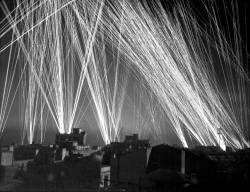 kebabablog:  Anti-Aircraft fire during a German air raid on Algiers, by Lt. W. R. Wilson, 1943