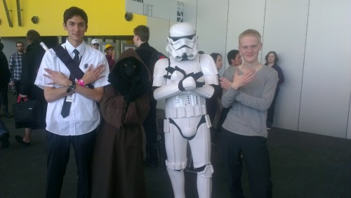 Nerdfighters', a Storm Trooper and a Jawa