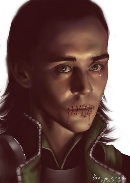 blackmorgan:  Loki: mouth shut by =Lady-Werewolf