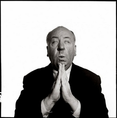 theniftyfifties:  Alfred Hitchcock photographed by Richard Avedon, New York City, March 1956.