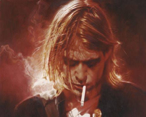 I wish I could eat your cancer when you turn black Kurt Cobain illustrated by Sebastian Krüger :: via sebastian-kruger-news.blogspot.ca