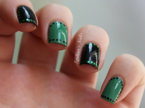 Black & Green Glitter Arc