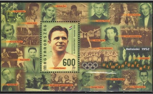 Puskas - Part of the Hungarian Olympic team at the Helsinki games of 1952. The Hungarian football team, the Magical Magyars, finished the tournament as Olympic champions, beating Yugoslavia 2-0 in the gold medal match. Puskas scored the first goal with Czibor getting the second.