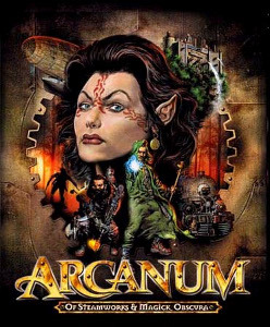 """Arcanum: Of Steamworks and Magick Obscura"" was one of the greatest RPGs of the 90s, and yet little known. The story itself was so so, but the setting was amazing.  It was set in a magical world that was undergoing an industrial revolution. A human adapted a dwarf design for a steam engine and changed the world. Elves, dependent on magic, retreated to their forests, orcs became subsistence miners and factory workers, an oppressed lower class.  Your character has the option to pursue a focus in either technology or magic, but cannot do both. A larger technological presence has a way of cancelling magic out, and technology malfunctions in areas of strong magic. Such is the case that in trains there is first class, second class, and the ""mage's coach."" Magical people have to ride in the crappy coach at the back, the furthest away from the engine to prevent it malfunctioning.  Perhaps one of the most interesting side quests involves your research into the faded ruins of an old civilization, where you discover that the balance between magic and technology is actually cyclical: there are times of technological power, which turns to magical power, and so on. Like the rise and fall of empires.  Along the way you meet orcs protesting against unfair working conditions, gnome entrepreneurs, feudal cities losing their competitiveness against industrial cities, and so on. It's a fascinating setting.  The main story itself sadly doesn't entirely run along with this theme of circular rise and fall of magic and technology. It is a pretty standard fantasy story of good, evil and old secrets.  But I still highly recommend it for fans of old school RPGs."