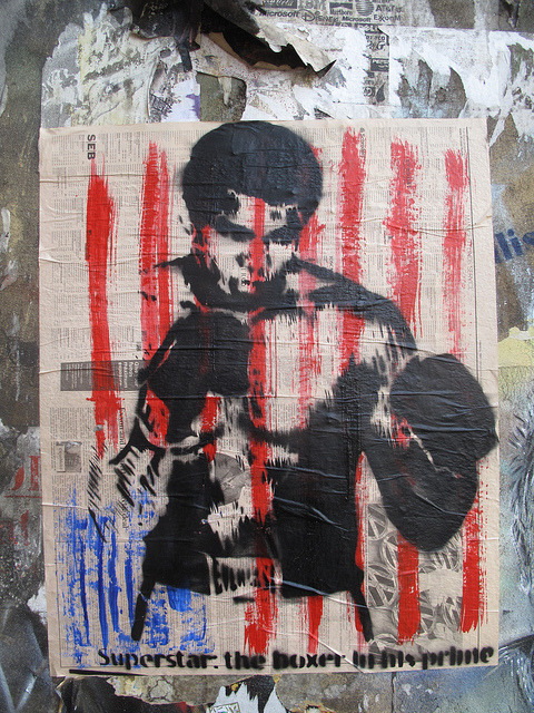 'Superstar: the boxer in his prime', Brick Lane street art by duncan on Flickr.A través de Flickr: