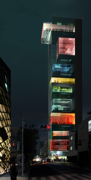 cabbagerose:  Vertical Omotesando / Wai Think Tank via: belmortimer  That'd be nice.