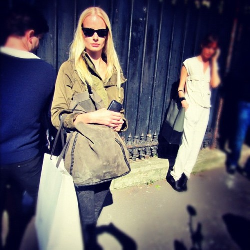 Irene Hiemstra                         #pfw #paris #celine  (Taken with Instagram)