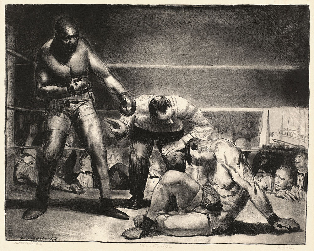 George Bellows - The White Hope, 1921. Lithograph