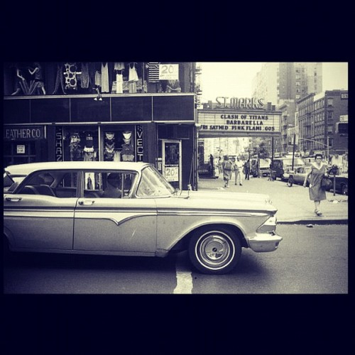 karateboogaloo:  Old east village by Godlis (Taken with Instagram)