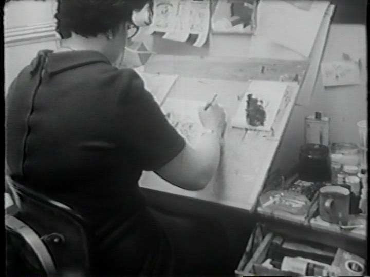 Here's a very rare image of Marie Severin at work in the Marvel Bullpen, circa 1970.