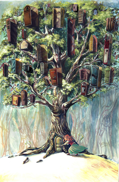 (via L arbre a portes by ~Jo-yumegari on deviantART)