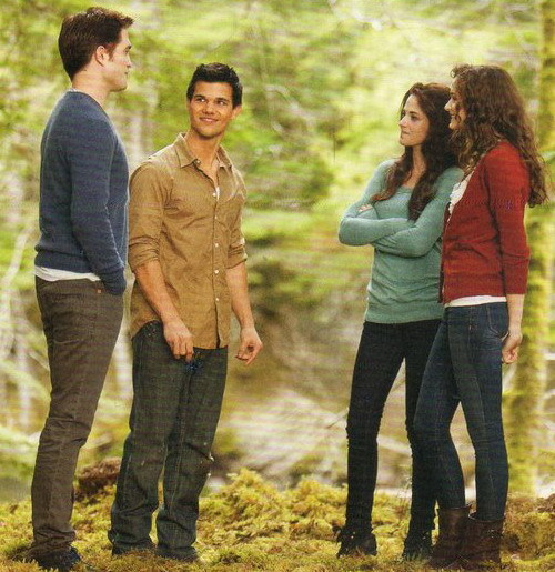 Edward, Jacob, Bella and Renesmee