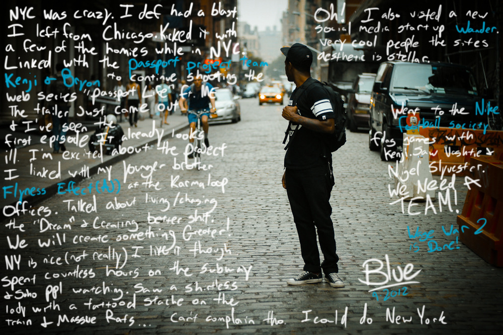 bryanblue:  Blue. NYC. 9-2012. Working on documenting my story.