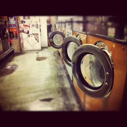 A laundrette in Covent Garden.