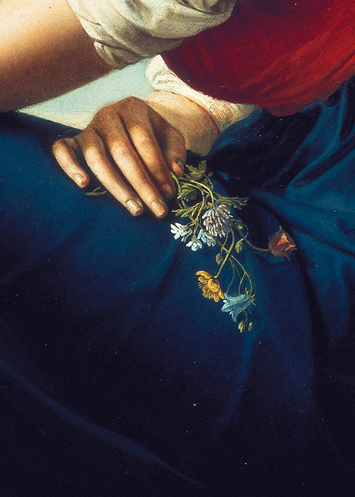 sophistae:   Gottlieb Schick, Portrait of Heinrike Dannecker (detail), 1802 (x)