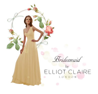 Bridesmaid Collection by Elliot Clairefeaturing Princess Yellow Evening Dress With Single Strap