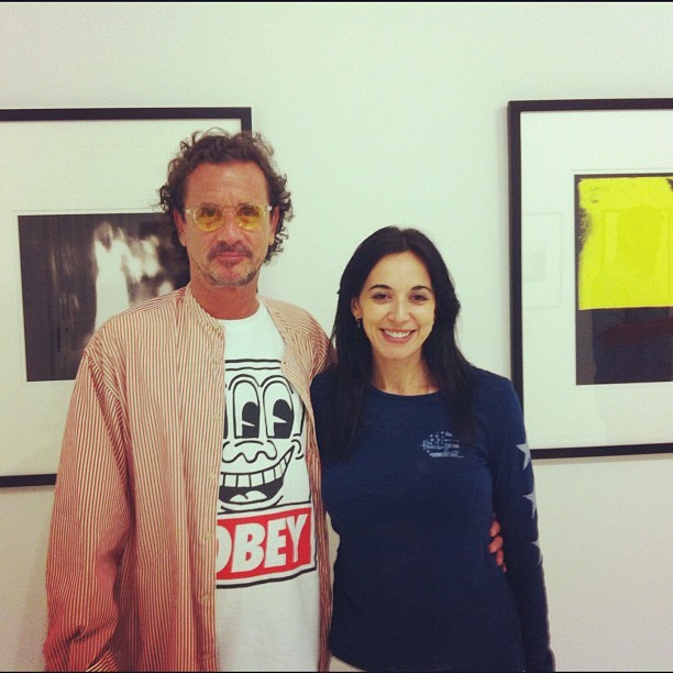 Me and the amazing artist Jaime Ferreyros (Taken with Instagram at The Lunch Box Gallery)