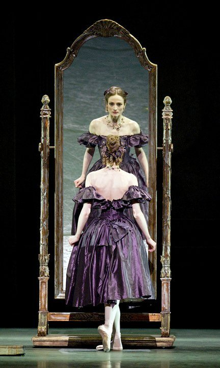 thedailyballet:  Julie Kent in John Neumeier's Lady of the Camellias. Photo by Gene Schiavone.