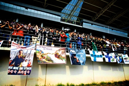 cleste09:  Banners for the Lotus F1 Team drivers in Korea…