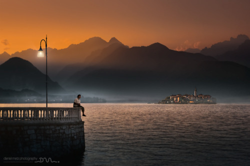 """Evening Atmosphere on lago Maggiore"" by Daniel Metz"