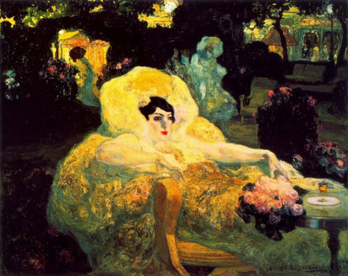 deadpaint:  Hermenegildo Anglada-Camarasa, The Woman With Flowers