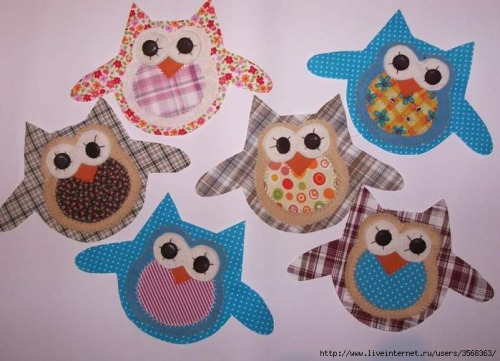 cute owl applique design
