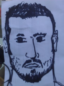 Gianluca Zambrotta. With angry eyes. Maybe a bit Japanese. But still Zambrotta