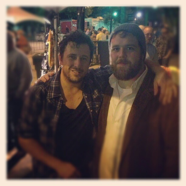 Thanks to @brittanhere, here's me and @willhoge from last night at Fall For Greenville #rockandroll (Taken with Instagram)