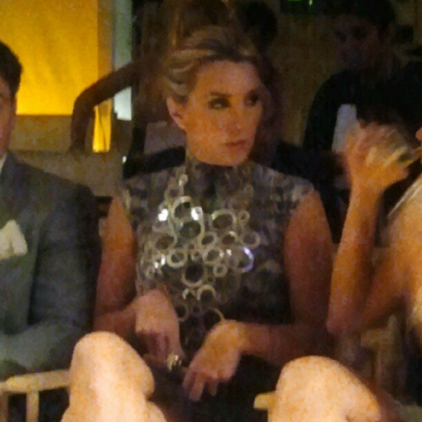 Seating in front of me Elizabeth Gutierrez @elygutierrez19  during @vanidadescom @covergirl @pantene #MagiadelaModa she's more stunning personally than in TV!  (Taken with Instagram)