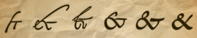 "sci-fact:   The modern ""&"" logogram is derived from the Old Roman cursive shorthand conflation of the Latin ""et"", meaning ""and"". In time, this ligature came to represent the same word in other languages. ""&"" was once considered the 27th letter of the English alphabet. In traditional primary school recitation, it was common practice to precede any letter that could also be a word, such as ""A"" or ""I"", and of course ""&"" with the Latin ""per se"" meaning ""by itself"". This means the spoken alphabet would end ""W, X, Y, Z, and per se AND"". The slurring of the final phrase gives us ""ampersand"", which was officially recognized by dictionaries in 1837."