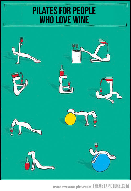 I know some people who would love this! (via Pilates for people who love wine - The Meta Picture)