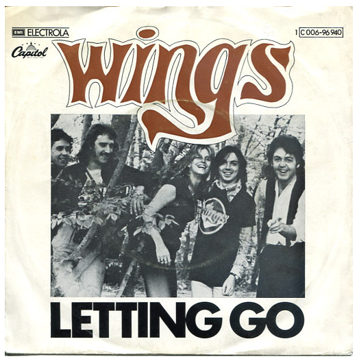 "Wings ""Letting Go"" / ""You Gave Me The Answer"" Single - Apple Records, Germany (1975)."