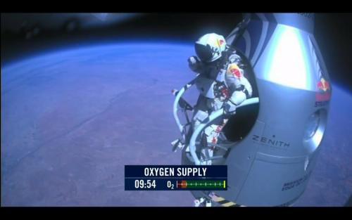 Felix Baumgartner just completed his jump from over 187,000 feet!