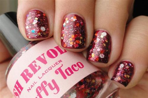 Zoya Blair and Polish Revolution Puffy Taco
