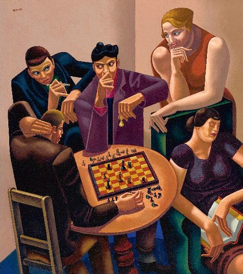 William Roberts The Chess Players 1929-30