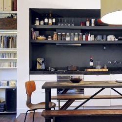 myidealhome:  open shelves (via Home Colors /)