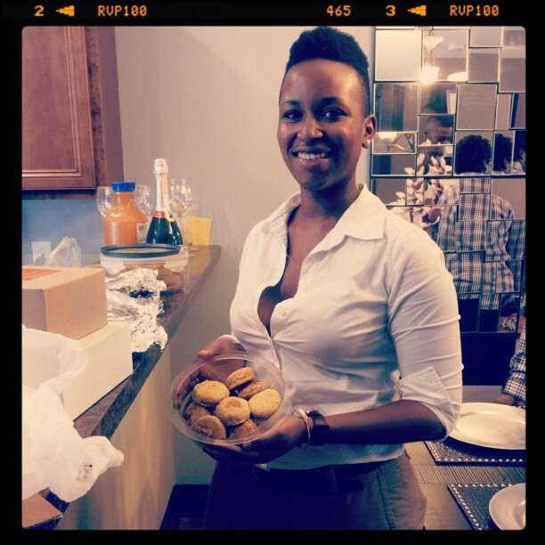 DJ and her classic sweet potato biscuits!!!!!! #mobilehomecoming #nashville (Taken with Instagram)