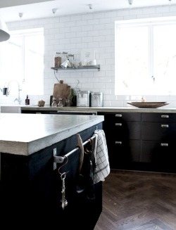 myidealhome:  black and white kitchen (via Daniella Witte)