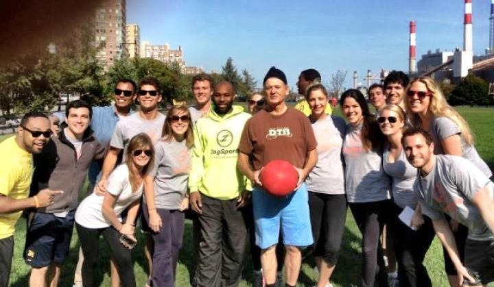 cockenblog:  My friend just had Bill Murray crash his kickball league.