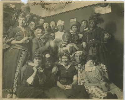 Halloween Night, 1914, in Millvale, PA. (via the Heinz History Center Library and Archives)