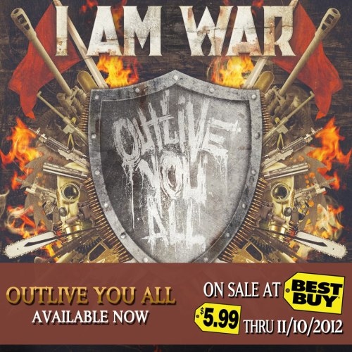 I Am War's new album, 'Outlive You All' is on sale at Best Buy for $5.99 this next month! Get in on this deal while you can.